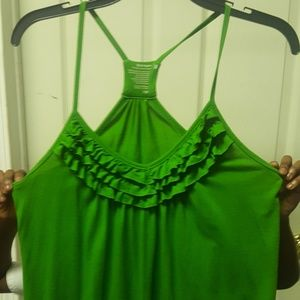 Old navy green spaghetti crossby top .
